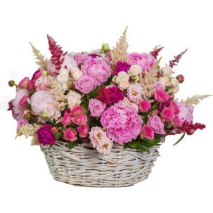 """Цветы в корзинке """"Безупречность"""""""