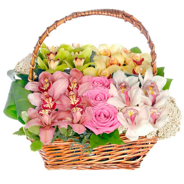 """Цветы в корзинке """"Капля счастья"""""""