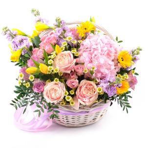 """Цветы в корзинке """"Рассвет"""""""