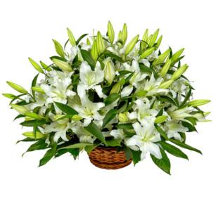"""Цветы в корзинке """"Вечность"""""""