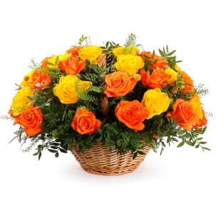 """Цветы в корзинке """"Закат"""""""